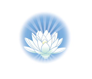 The Healing Space logo - light blue