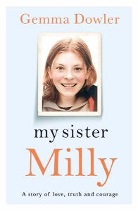 Book Cover of 'My sister Milly' by Gemma Dowler, which talks about EMDR treatment with Michelle Calvert