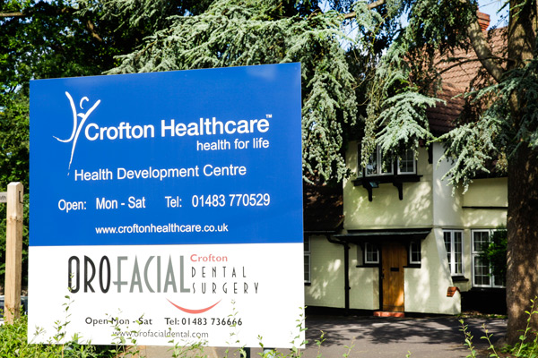 Crofton Healthcare sign, The Healing Space Surrey, London & Hampshire
