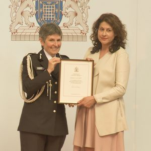 Michelle with Cressida Dick, Met. Police Commissioner
