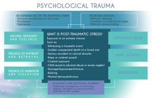 Michelle Calvert's Psychological Trauma Diagram. The Healing Space Surrey, London & Hampshire