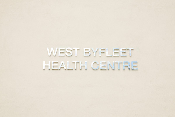 West Byfleet Health Centre sign
