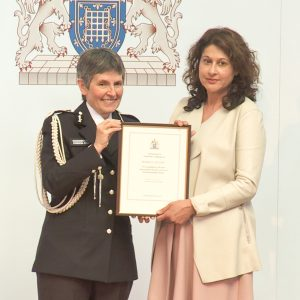 Michelle Calvert EMDR Practitioner with Cressida Dick, Met. Police Commissioner